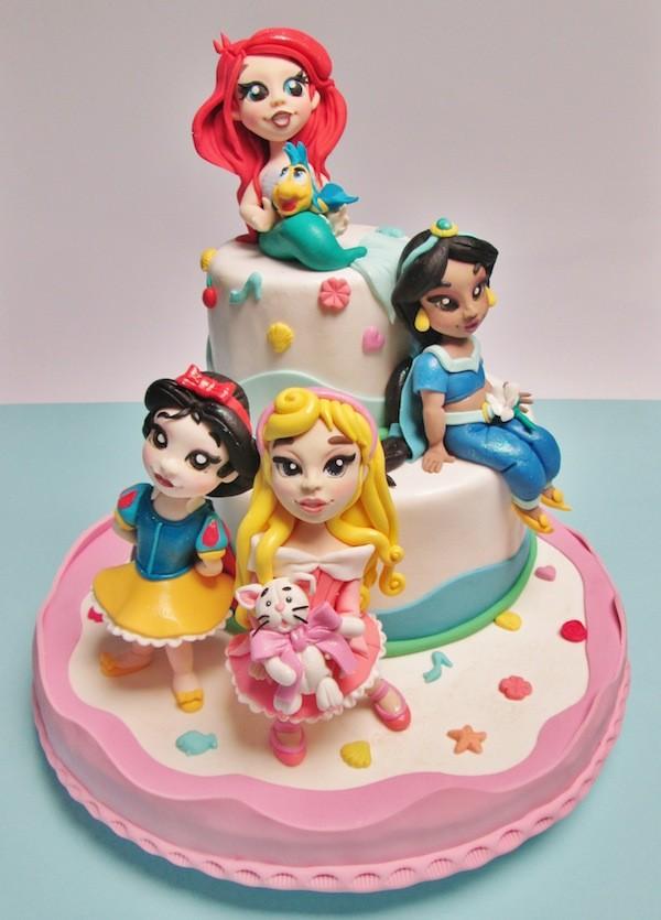 Cake Design Principesse Disney : I topper Principesse Disney in pasta di zucchero di Maria ...