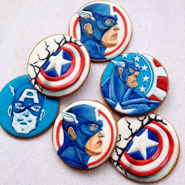 biscotti capitan america cookies
