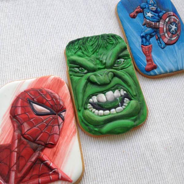 spiderman hulk america cookies
