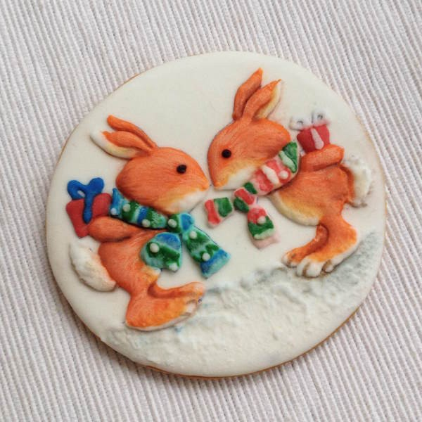 biscotti di Natale decorati in ghiaccia 3D