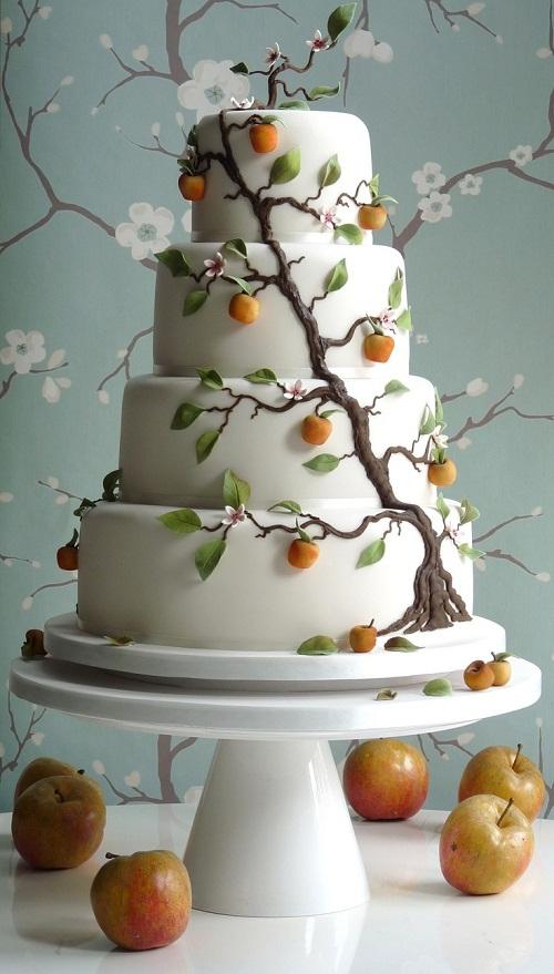wedding cake autunnale
