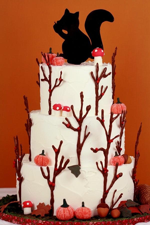 torta autunno scoiattolo squirrel cake