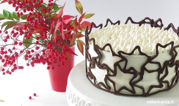 torta natale con collare cioccolato
