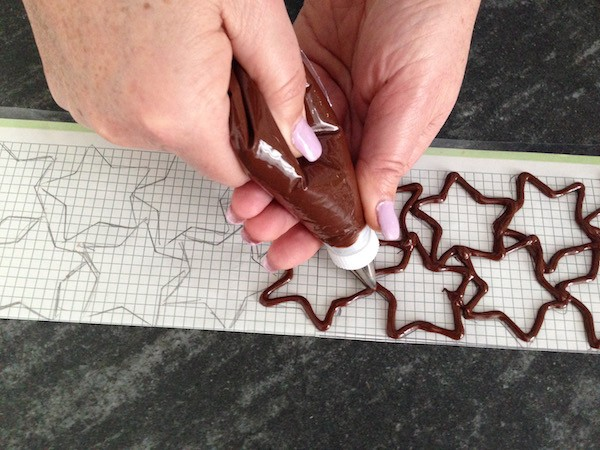 stelle di cioccolato