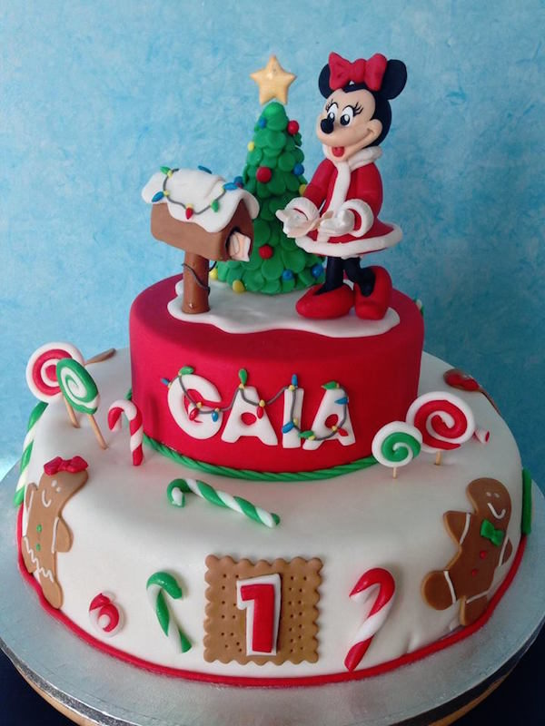Torta Minnie Natale Cakemania Dolci E Cake Design