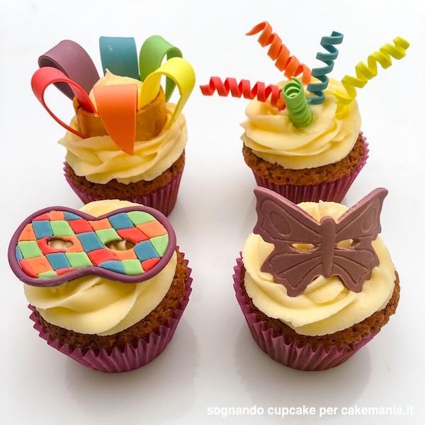 come si fanno le cupcake di carnevale