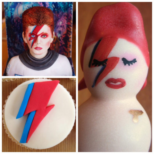 torte cake design david bowie