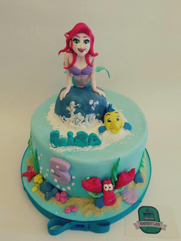 Torte di cake design con la Sirenetta Disney