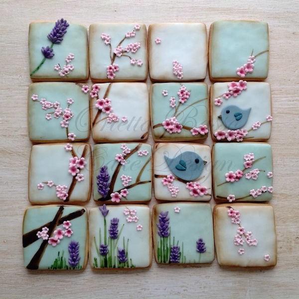 collage di biscotti uccellini