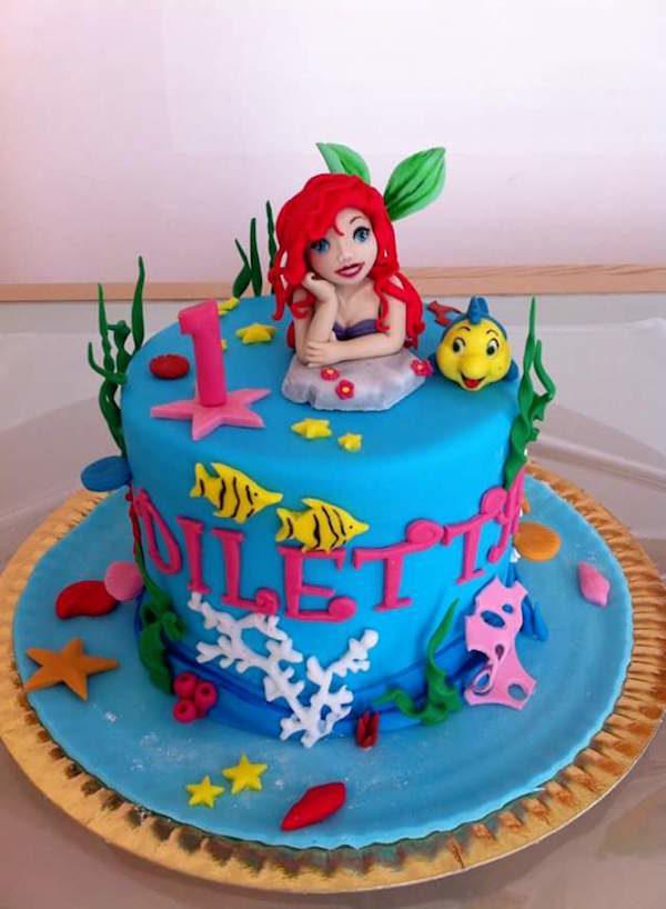 Cake Design Principesse Disney : Torte di cake design con la Sirenetta Disney