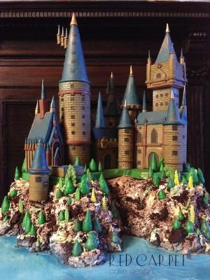 harry potter castle cake