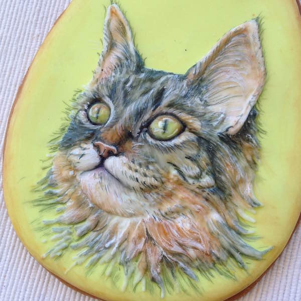 Biscotti decorati con animali dipinti a mano
