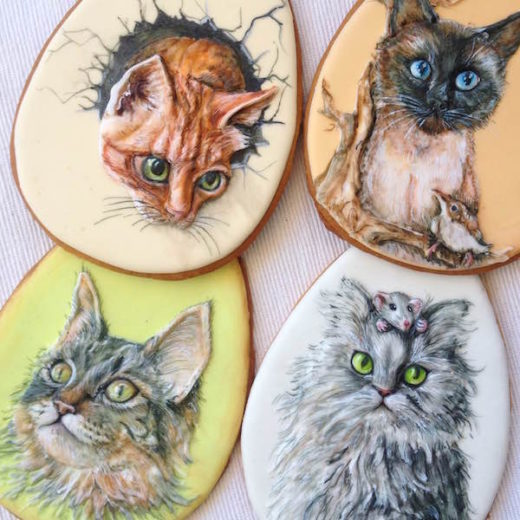 biscotti gatti kitten cookies