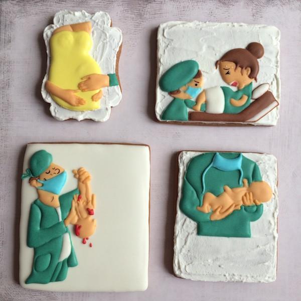 Biscotti decorati gravidanza e parto