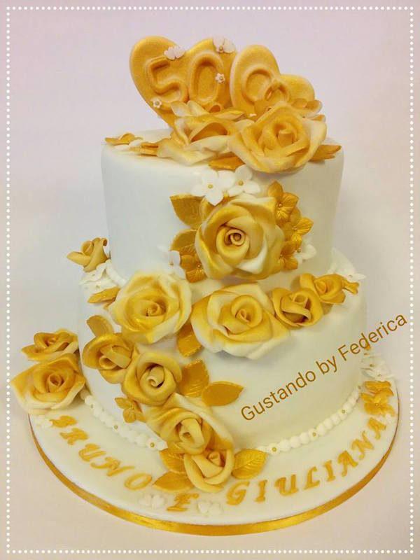 torta nozze d'oro