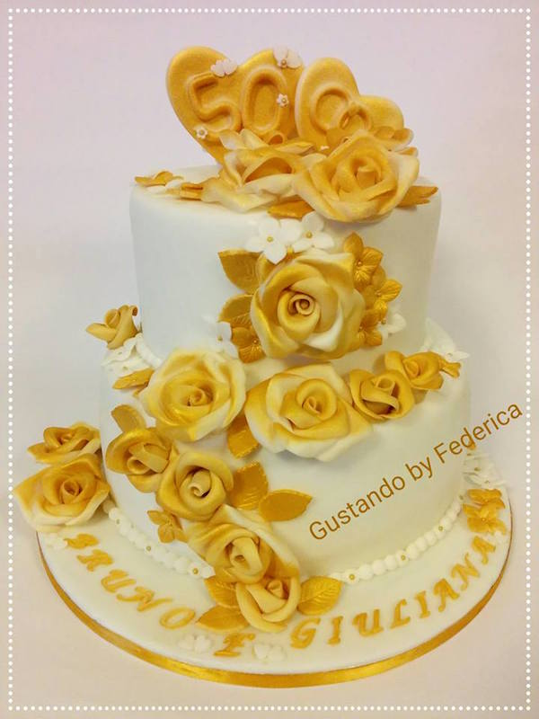 Torte decorate dorate oro cake design per occasioni for Occasioni design