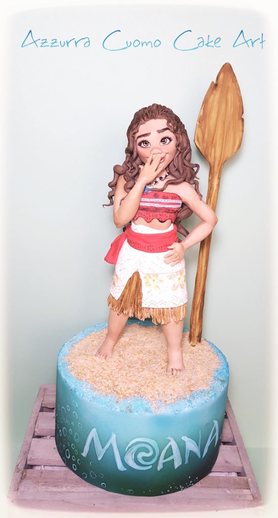 torta oceania vaiana moana cake