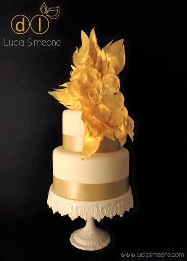 wafer paper dorata torta
