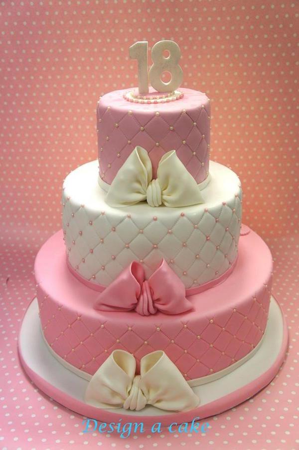 torta 18 anni rosa