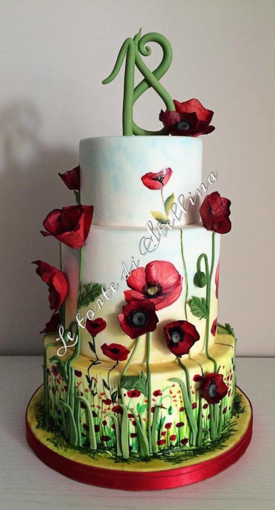 torte 18 anni fiori