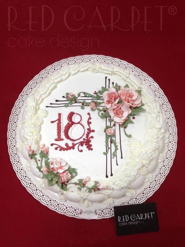 vintage 18 birthday cake