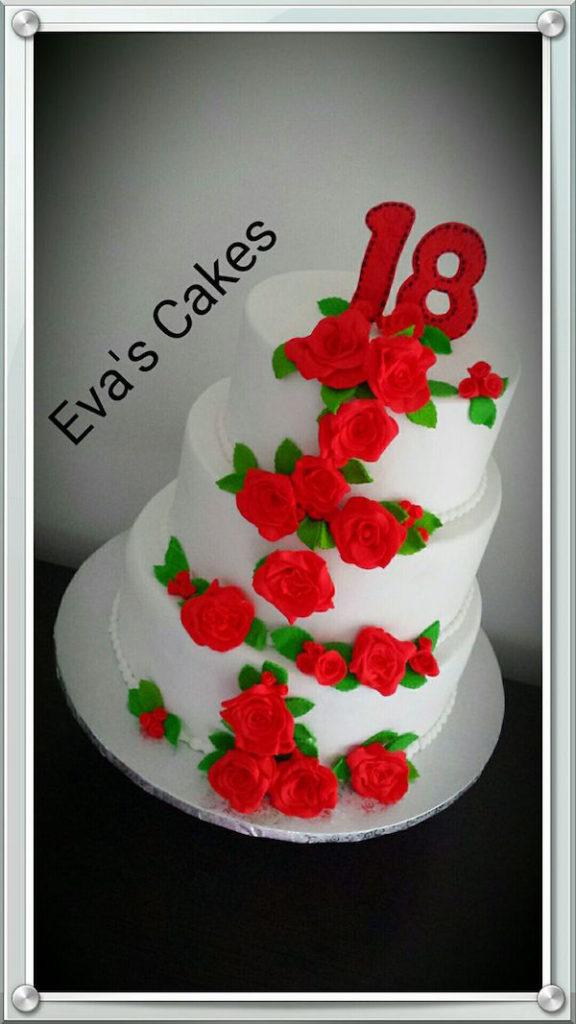 torta 18 rose rosse