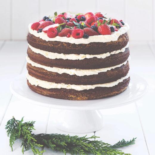 naked cake al cioccolato