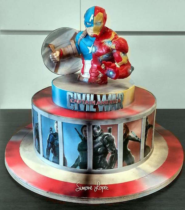 Captain America Civil War cake