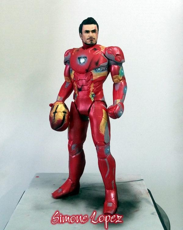 Tony Stark Iron Man cake