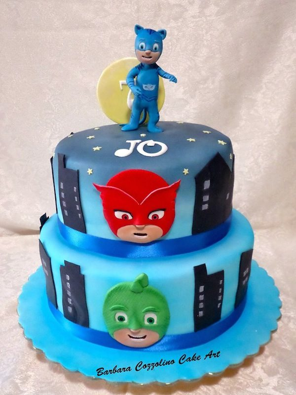 Pj Mask Cupcake Cake