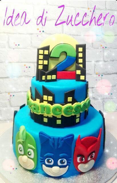 Torta PJ Masks - le torte decorate dei superpigiamini!