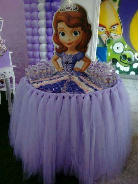 tavola festa principessa sofia