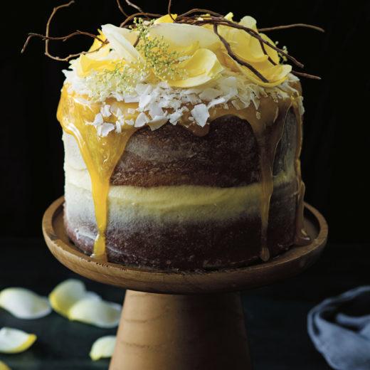 naked cake cocco e limoncello