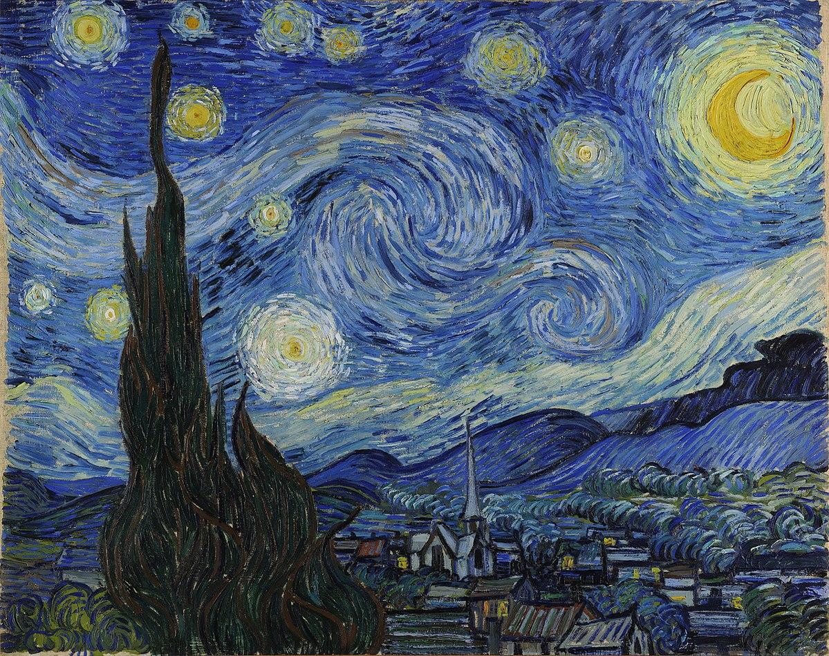Notte stellata, Vincent Van Gogh, 1889.
