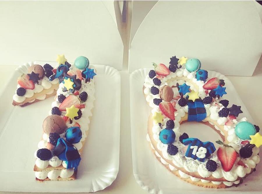 Cream Tart Tante Idee Per Torte A Forma Di Lettere E Numeri