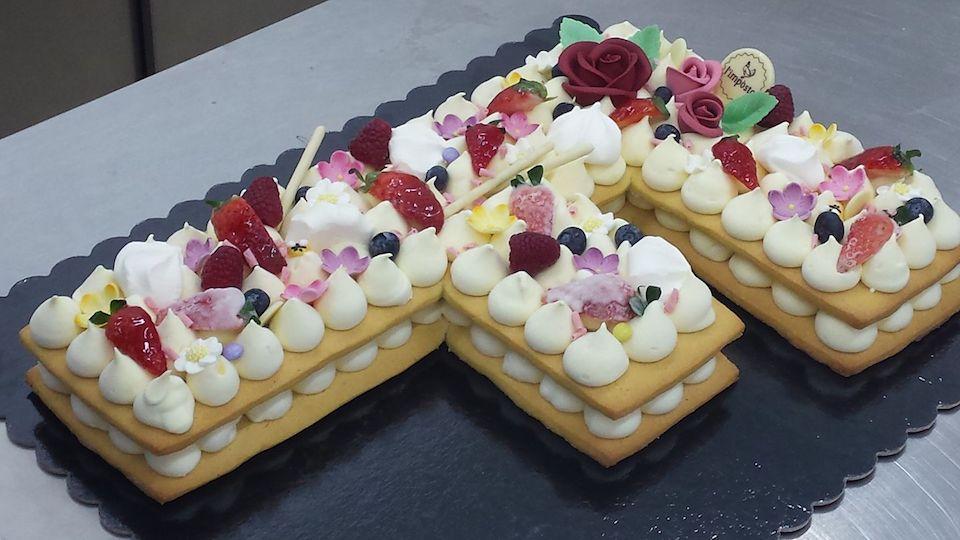 letter cake cream tart F