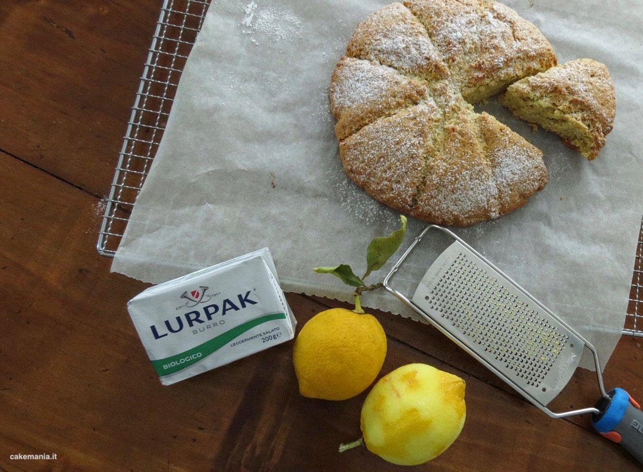 ricetta scone burro e limone