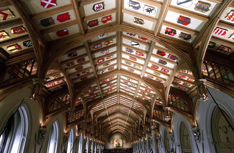 Il soffitto della St. George's Hall a Windsor
