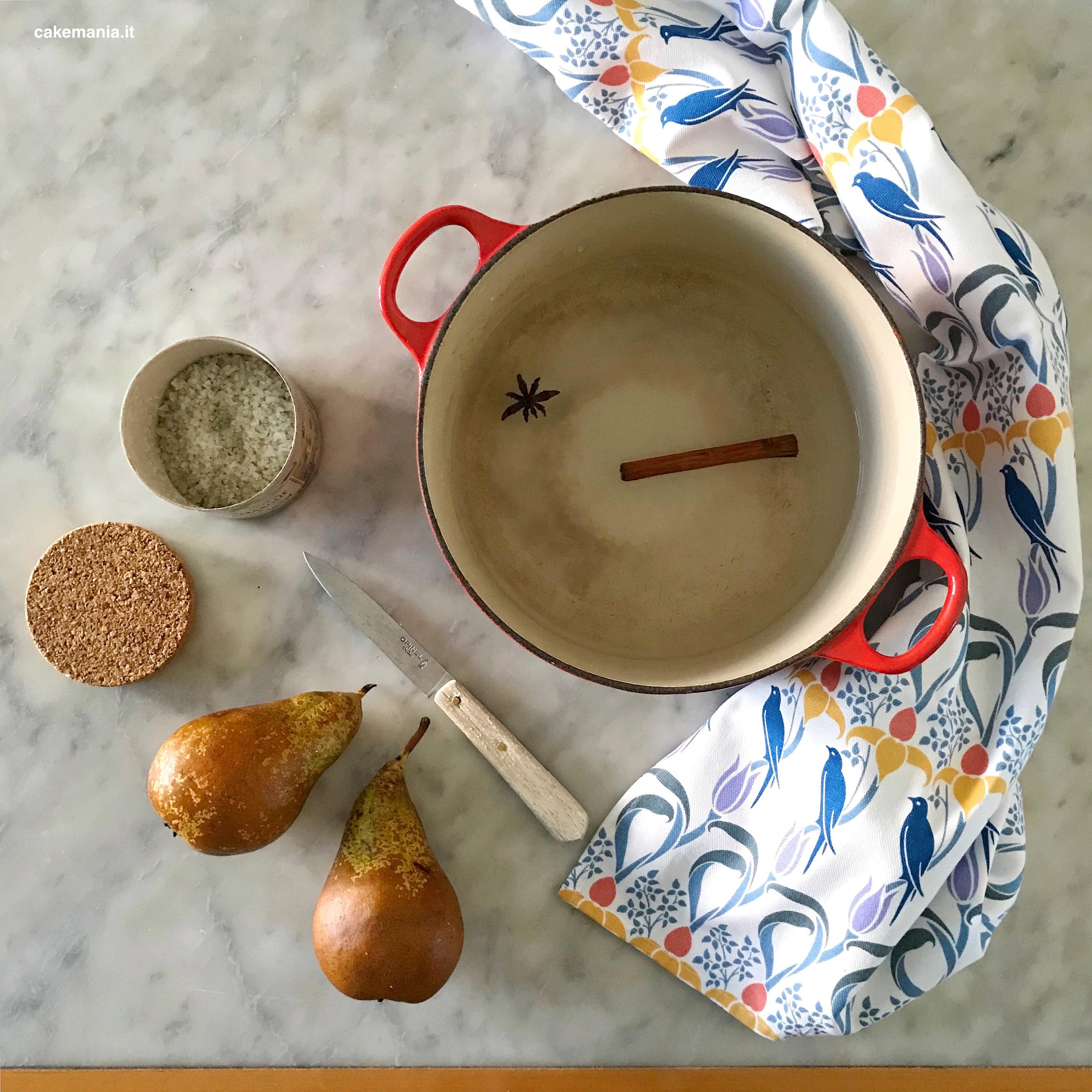 pere cotte ricetta facile