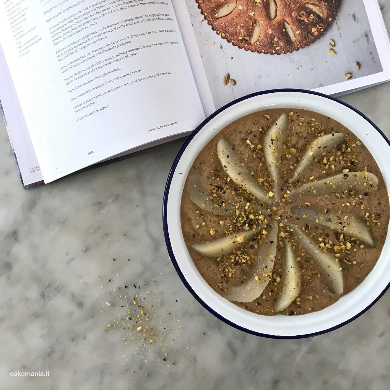 torta pere pistacchi