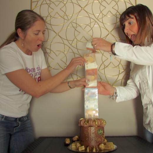 video tutorial money roll cake