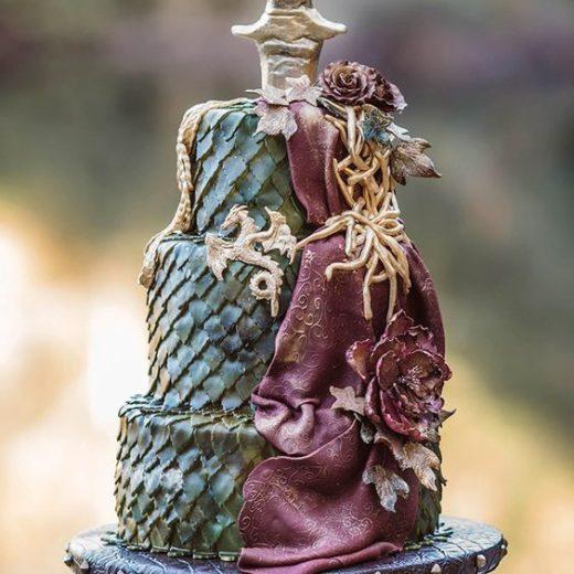 Torta matrimonio trono di spade