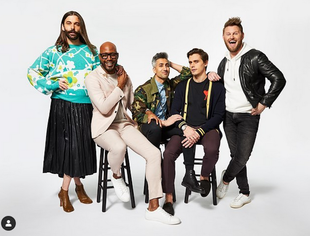 Jonathan, Karamo, Tan, Antoni e Bobby di Queer Eye