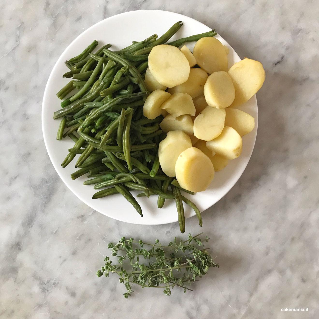fagiolini patate maggiorana