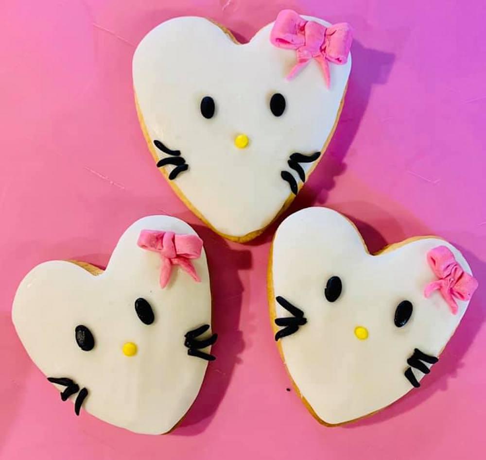 biscotto nastrino rosa gatto