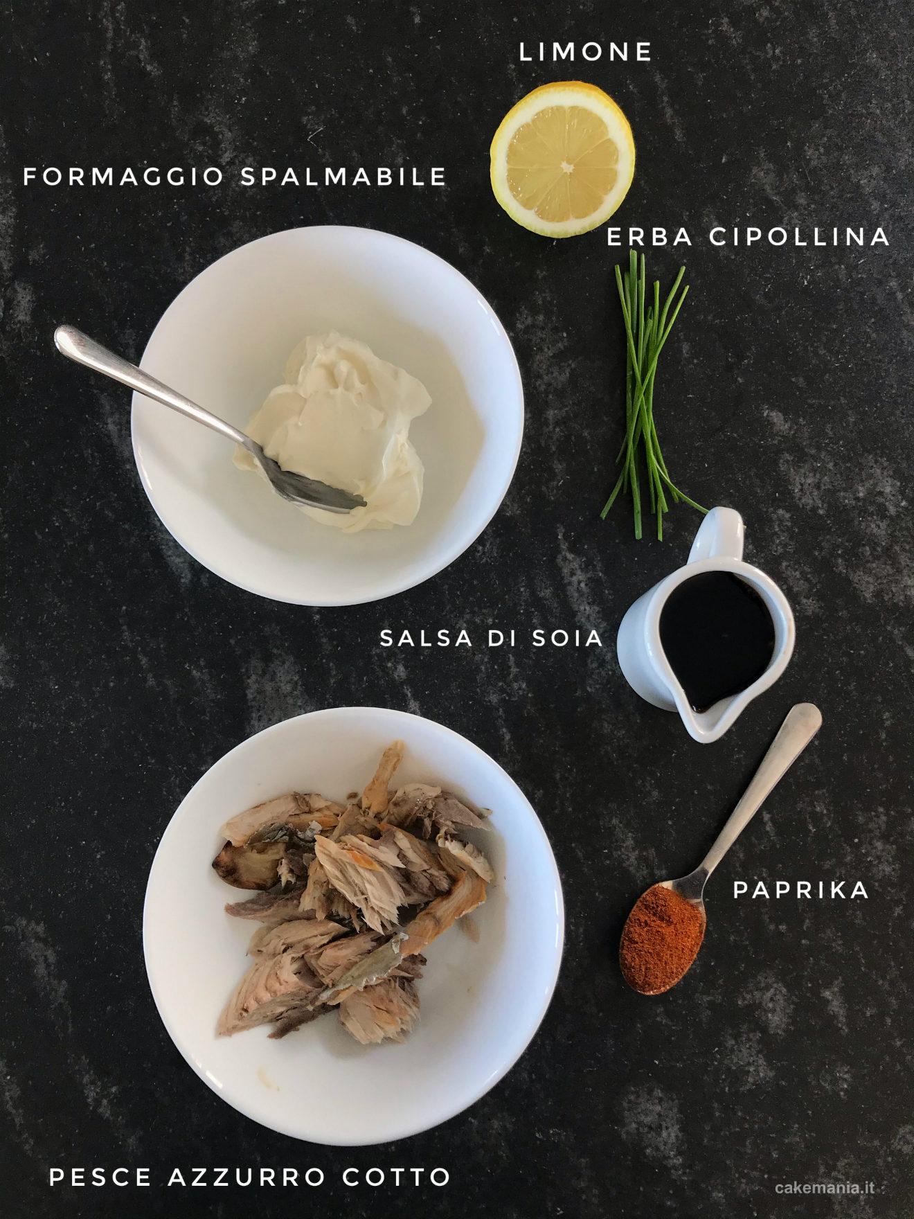 ingredienti ricetta patè di pesce facile
