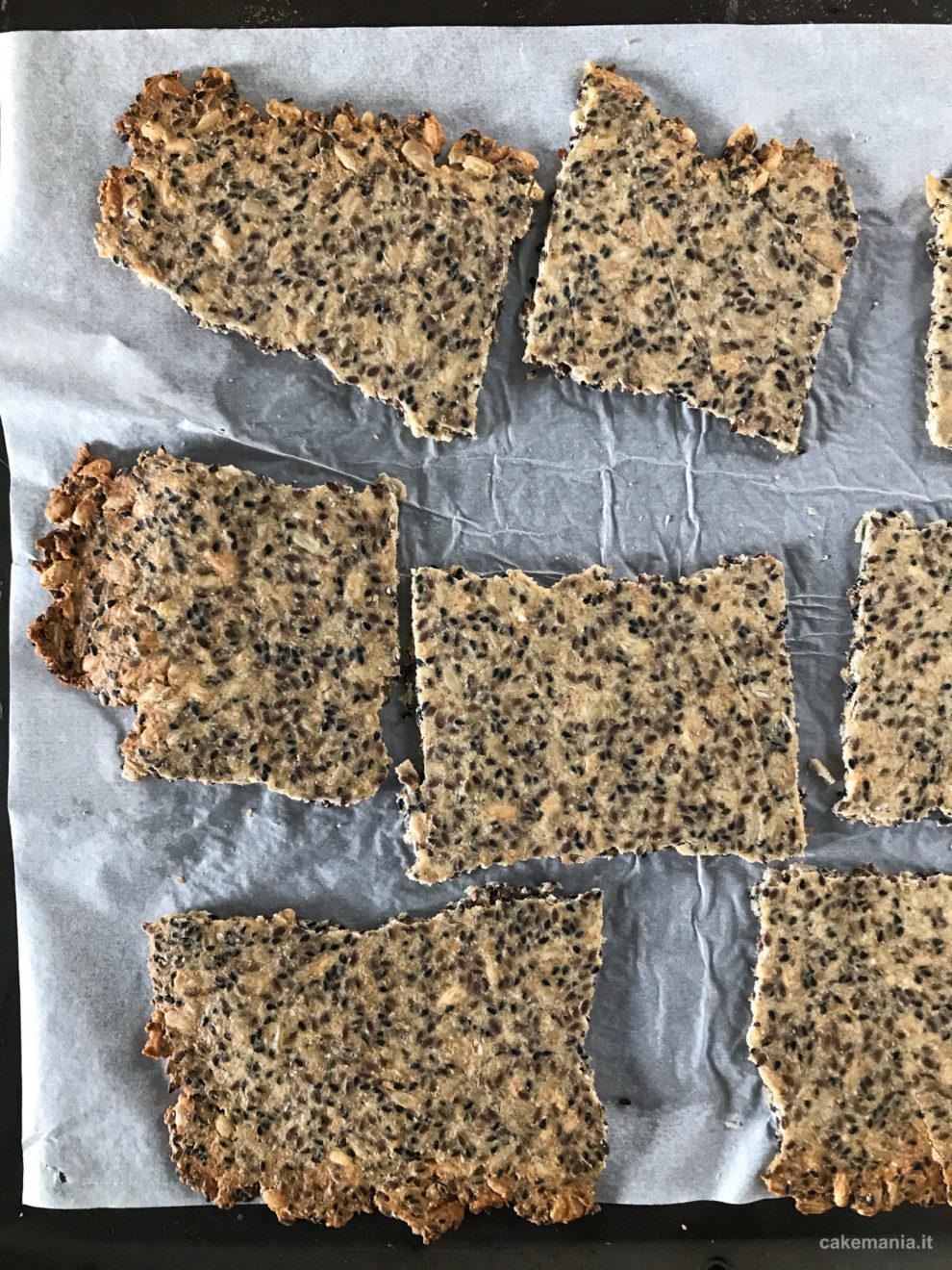 cracker senza glutine ricetta