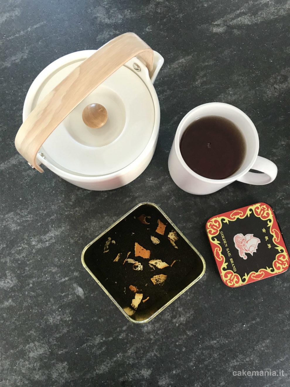 miscela di tè fatta in casa