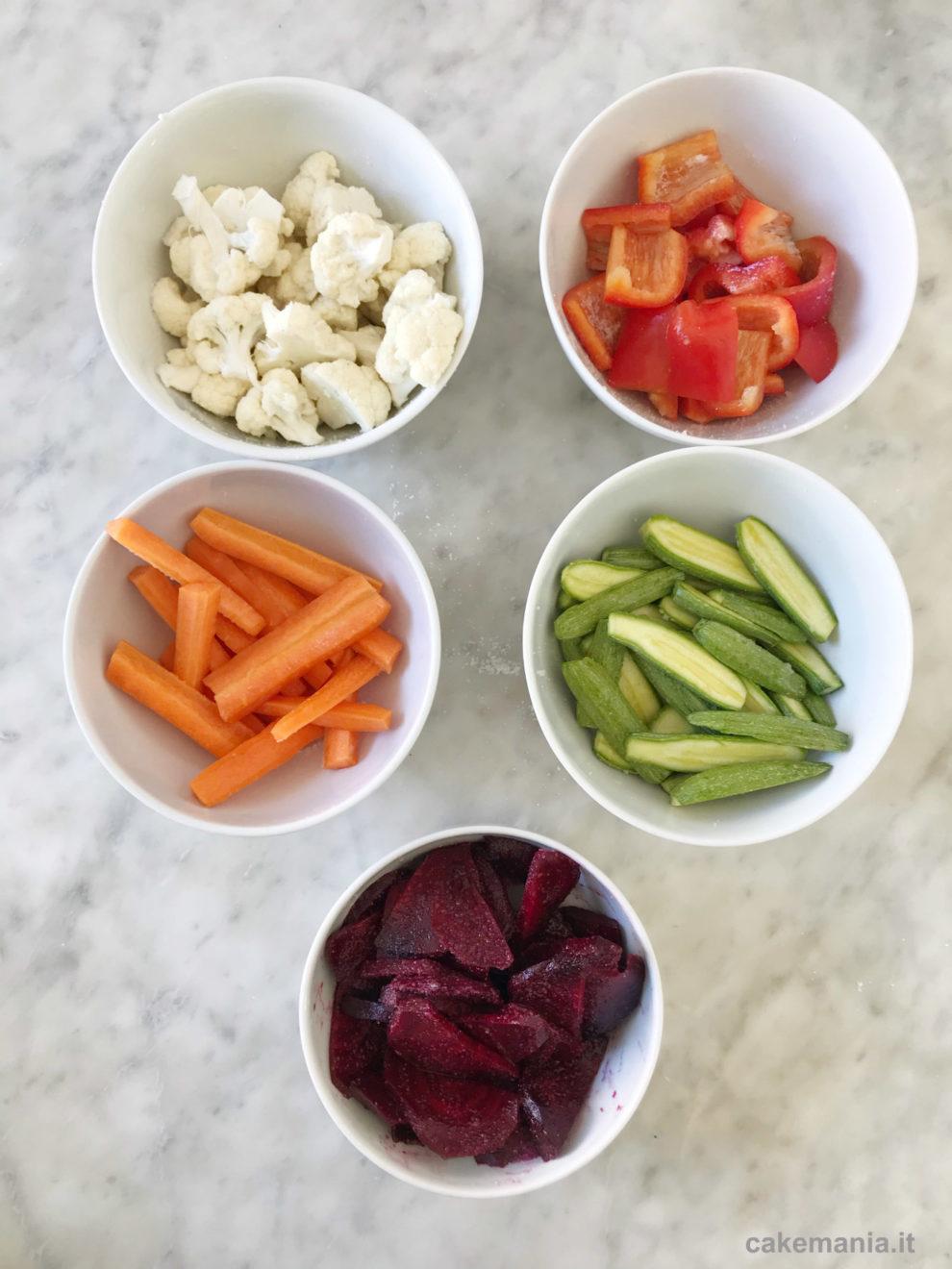verdure croccanti sotto sale