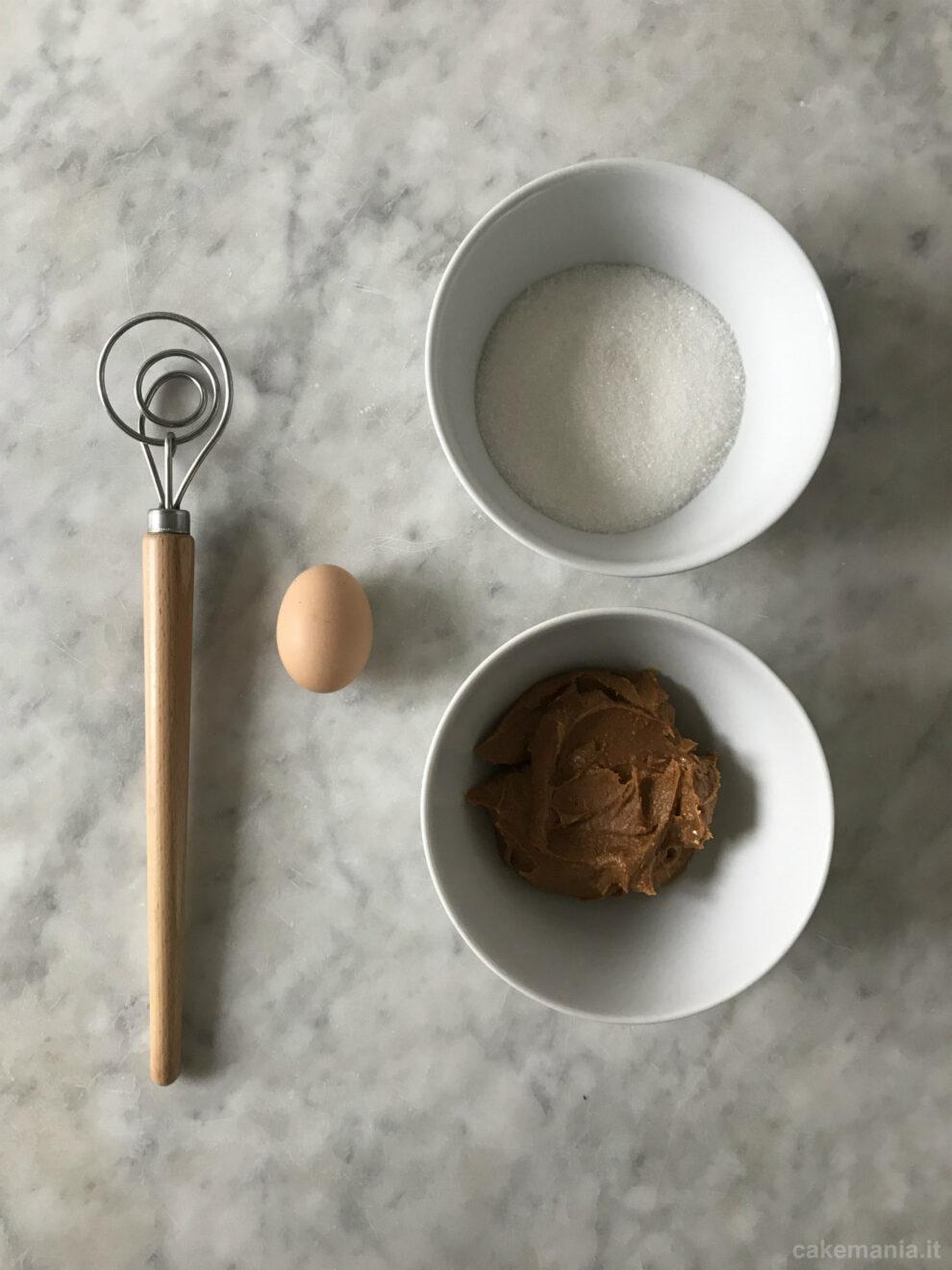 ingredienti biscotti al burro di arachidi